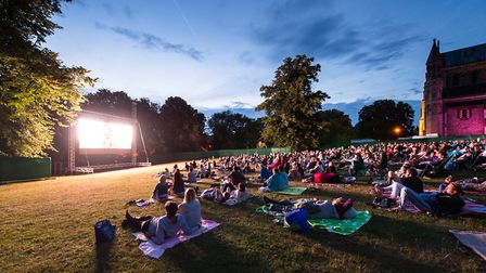 The open air cinema was a success. Picture: Mark Sims
