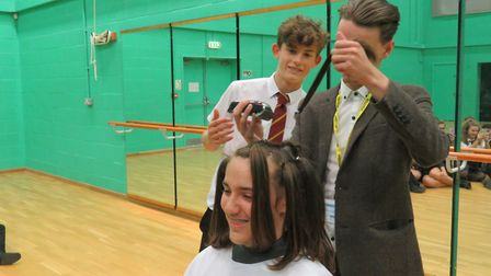 Tom McKnight from Royston-based barbers Carlo & Co was on hand to carry out the shave but Connor's f