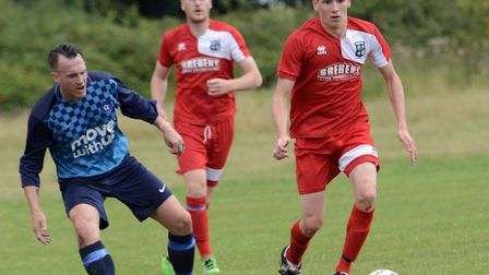 Action from the pre-season friendly between Godmanchester Rovers and Brampton.