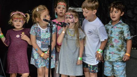 Children performing with Endless Nameless. Picture: Fi Stimpson