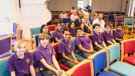 Year 4 pupils at Cunningham Junior School. Picture: Mark A Slater