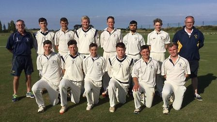 The Hunts Under 25 side, pictured ahead of their win at Essex are, back row, left to right, Dave Sum