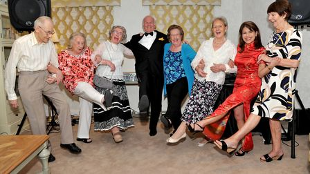 The residents enjoyed a boogie to a Frank Sinatra tribute act