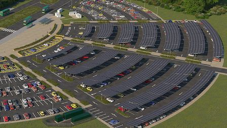 How the project at St Ives park and ride could look.