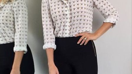Holly Willoughby posted a picture of her wearing the Star Print blouse on Instagram.
