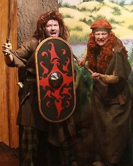 Boudicca and bodyguard can be seen at the reopening of the St Ives Museum.