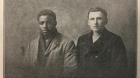 Two of the Belgian Prince survivors who were helped by Sailors' Society