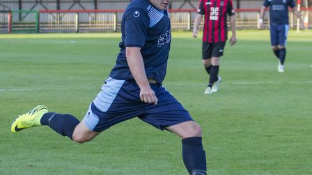 Jack Bradshaw scored both goals for St Neots in their friendly win at Histon. Picture: CLAIRE HOWES