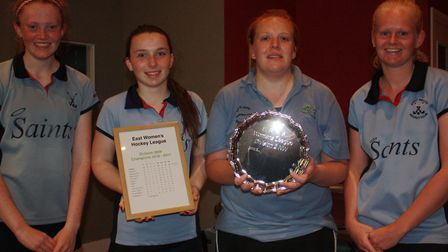 Members of St Neots Ladies 1sts, who won the East Women's League Division Two North-West title last
