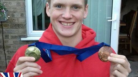 St Neots swimming talent Myles Robinson-Young.