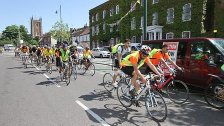 The riders in St Albans.