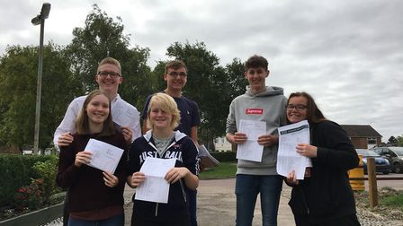 Meridian School students were pleased with their GCSE results this morning.