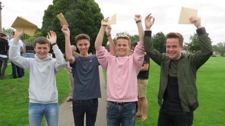 BVC students overjoyed after opening their GCSE results this morning.
