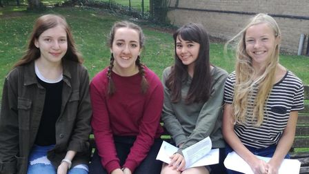 Students are celebrating after getting their GCSE results at Melbourn Village College.