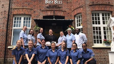 Staff at Busy Bees Nursery.