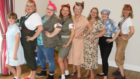 The Mary Barfield House team held a 1940s fete at the home. Picture: Courtesy of Roz Wulff