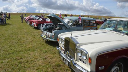 There were classic cars on the heath during Royston's 25th charity kite festival. Picture: Neil Heyw