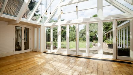 The large orangery is one of the property's best features
