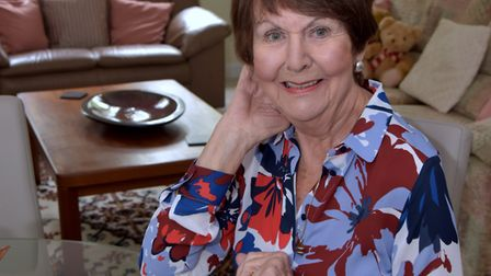 Wise move: Joan Young in her new apartment