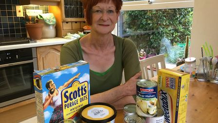 Carol Hedges is running a food bank in Harpenden.