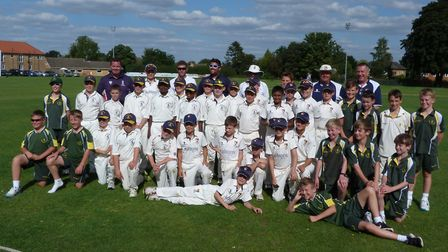 The squads which took part in a Twenty20 tournament at Ramsey.
