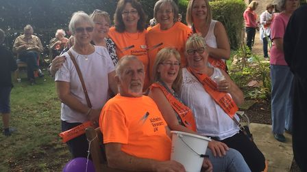 Maycroft Care Home residents, staff, and their families took part in a fundraising walk for Alzheime