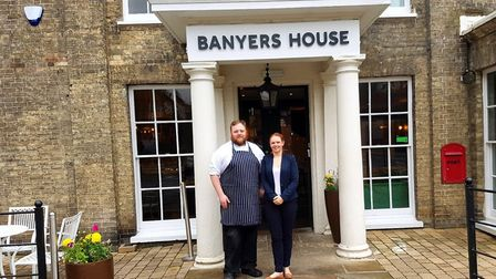 Banyers' head chef Daniel Moss with general manager Stevie Watts.