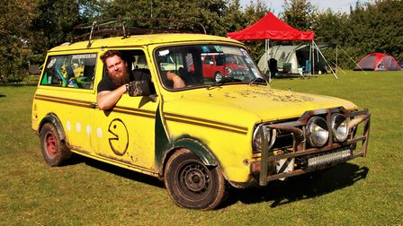 Rick Wyard of the Essex Mini Group is the proud owner of this 1981 Mini Clubman H.L. Picture: Clive