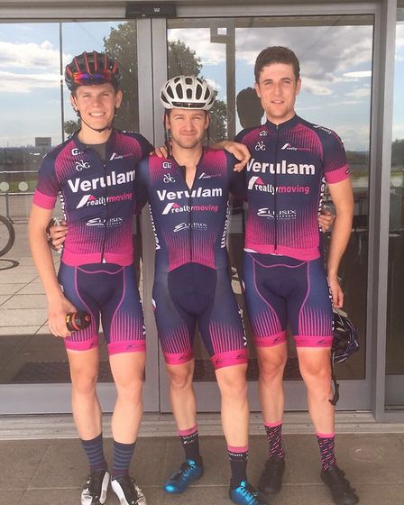 Luke Houghton, Marcel Six and Clay Davies at Hog Hill.