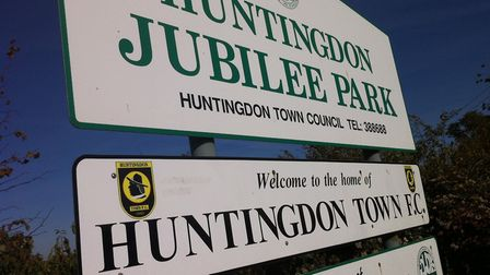 Jubilee Park, the home of United Counties Division One side Huntingdon Town.