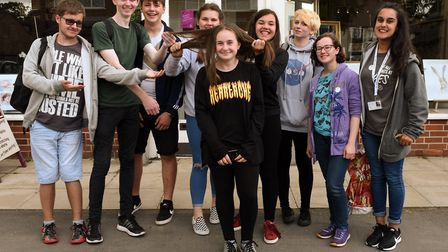 Millie Taylor and friends from the NCS scheme.