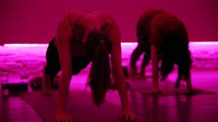 Herts Advertiser reporters Franki Berry and Anne Suslak try Hot Yoga at Westminster Lodge. Picture: