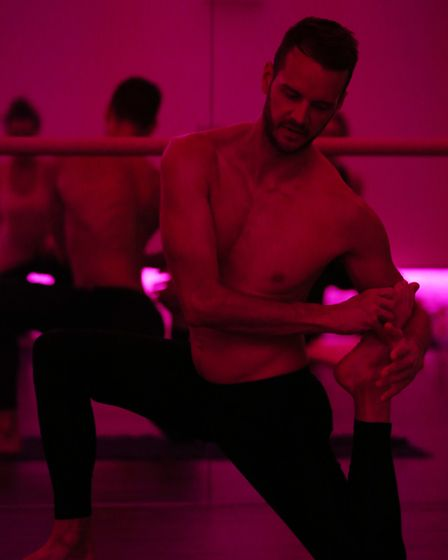 Hot Yoga instructor Jonny Penn teaches a class at Westminster Lodge. Picture: Danny Loo