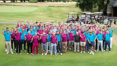 Scores of golfers came out to support the cause. Picture: Shelagh Bidwell