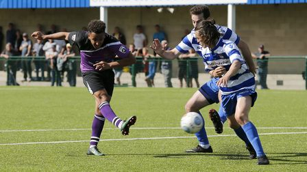 Zane Banton scored a stunning goal against Wealdstone. Picture: LEIGH PAGE