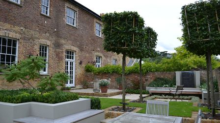 All-season planting was key to Kate's thinking when designing this Stevenage garden as it is used fo