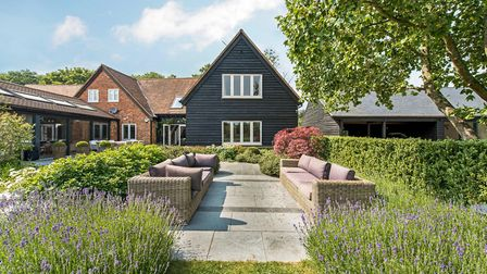 This four-bed, five reception room house in Harpenden's East Common makes good use of its 1.1 acres,