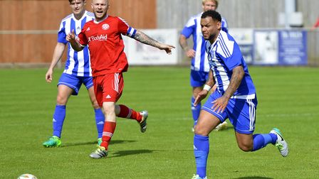 Dom Lawless gave Eynesbury Rovers the lead in their FA Cup preliminary round draw against Peterborou