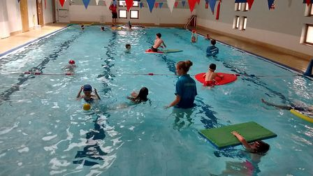 The team at Melbourn Sports Centre are celebrating the reopening of its 25-year-old swimming pool af