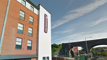 The Premier Inn in High Wycombe, which St Albans council has used to accommodate homeless people in
