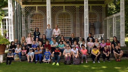 A tea party for young carers at Abbots Ripton Hall.