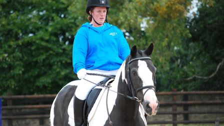 Lucy Warne won gold at the Special Olympics dressage competition in Sheffield last week. Picture: Co