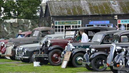 Classic cars were on display at Ramsey 1940s.
