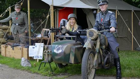 Tania Bingham and Simon Scofield get into the spirit of things at Ramsey 1940s.