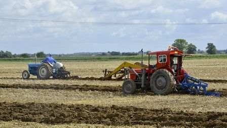 Ploughing contest taking place at Ramsey 1940s weekend.