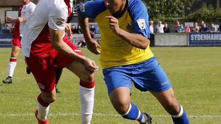 St Albans Zane Banton leaves the Poole defence in a spin (pic Leigh Page)
