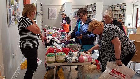 Julie Emmerson held a 'destash sale' at Melbourn Community Hub.