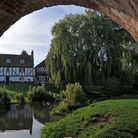 Some of the village's prettiest homes overlook the River Colne