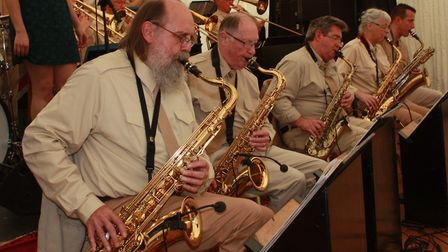 The Opus 17 Swing Band. Picture: Clive Porter