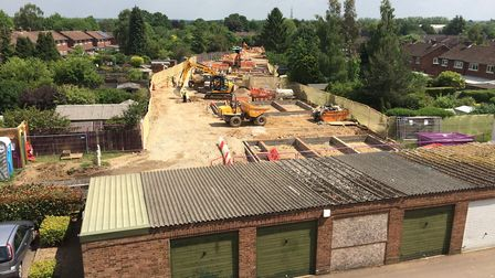 Affordable homes being built by SADC at disused garage site in Partridge Road, Batchwood. Photo: St